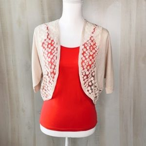 Shrug Mesh Embroidered Size M